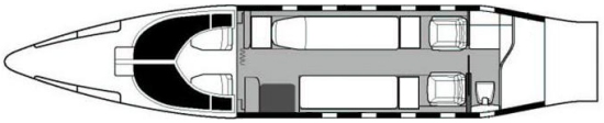 Air Ambulance Interior Layout Double