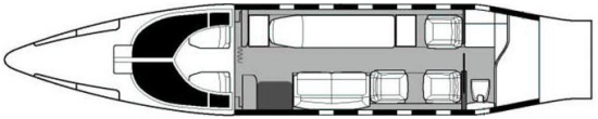 Air Ambulance Interior Layout Single